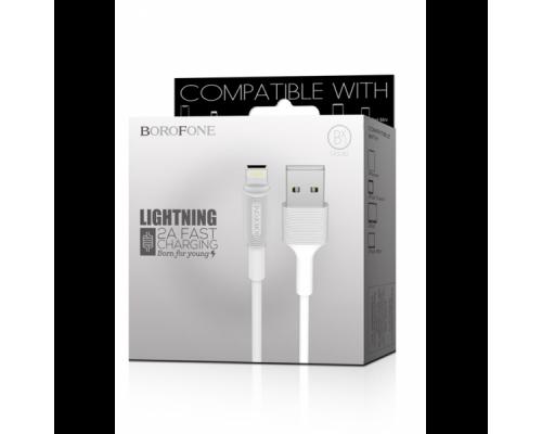 Дата-кабель BOROFONE BX1 Lightning (1м.) цвет: белый