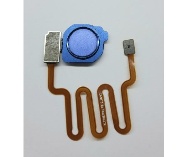 Шлейф с датчиком отпечатка пальца Huawei Mate20 lite синий
