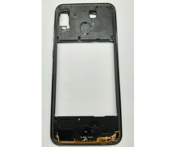 Средняя часть корпуса Samsung A30 (A305) черный