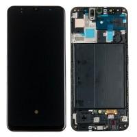 Дисплейный модуль для телефона Samsung A505F/Galaxy A50 черный оригинальный в раме