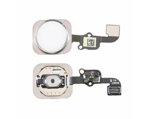 Кнопка, шлейф Home 6S, 6SP White.