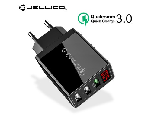 Зарядное устройство Jellico QC 3,0 3 порта USB